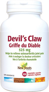 New Roots Herbal Devil's Claw 525mg 100 Veg Capsules 628747108348