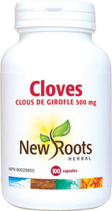 New Roots Herbal Cloves 500mg 100 Capsules | 628747102506