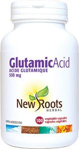 New Roots Herbal Glutamic Acid 500mg 100 Veg Capsules  628747106719