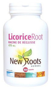 New Roots Licorice Root 470mg 100 Capsules   628747108263