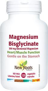 New Roots Herbal Magnesium Bisglycinate 200mg - 120 caps   628747123082