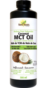 New Roots Herbal Coconut MCT Oil Unflavoured 500mL | 628747224147 | 628747224154