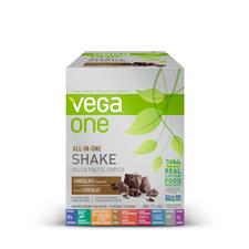 Vega One All In One Nutritional Shake Box of 10 Single Packs Chocolate | 838766105307