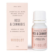 Woodlot Essential Oil Blend Rose & Cannabis 10mL | 628250757583