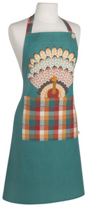 Now Designs Tommy Turkey Spruce Apron   064180275795