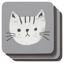 Now Designs Cats Meow Cork-Backed Coasters Set of 4 | 064180268391