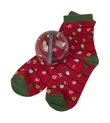 Little Blue House by Hatley Kids Socks in Ball Red Northern Lights   671374156992
