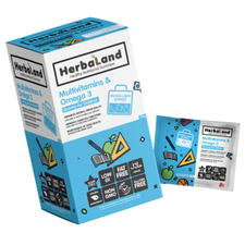 Herbaland Multivitamins & Omega-3 Lunch Box Gummies for Kids 20 x 7g | 813523000989
