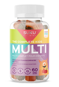 SUKU Vitamins The Complete Kids Multi Plus Fibre - Tropical Bonanza Flavour 60 Gummies | 628176472201