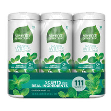 Seventh Generation Multi Purpose Wipes- Garden Mint 3x37 ct  732913446896