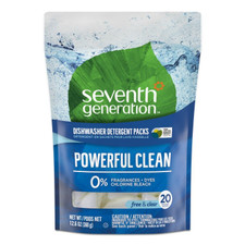 Seventh Generation Dishwasher Packs - Free & Clear 20 ct   732913228188