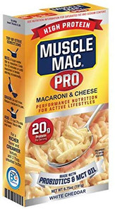 Muscle Mac Pro High Protein Macaroni & Cheese with White Cheddar 191g   856587004422