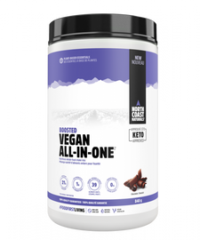 North Coast Naturals Boosted Vegan All-In-One Protein 840 g Chocolate | 627933101521 | 627933101576 | 627933101576