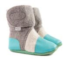 Nooks Design Booties Grey with Teal | 628110356345 | 628110356352