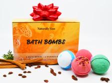 Naturally Vain Large Bath Bomb Set - 6 Pack