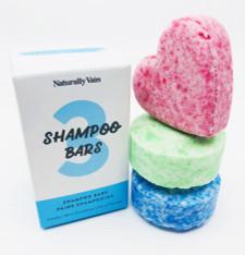 Naturally Vain 3 Solid Shampoo Bars Set