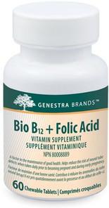 Genestra Bio B12 + Folic Acid 60 Chewable Tablets | 883196112418