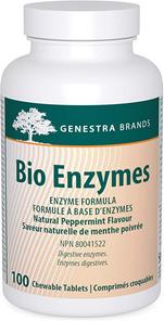 Genestra Bio Enzymes 100 Chewable Tablets   883196112814