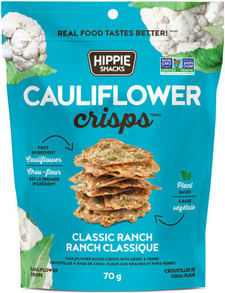 Hippie Snacks Cauliflower Crisps - Classic Ranch 70 g |625691140011