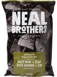 Neal Brothers Tortilla Chips - Deep Blue & Flax 300 g | 056932201053
