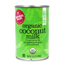 Natural Value Organic Coconut Milk - 17-19% Milk Fat 400mL | 706173010227