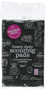 Natural Value Heavy Duty Scouring Pads 2 pk   706173100089
