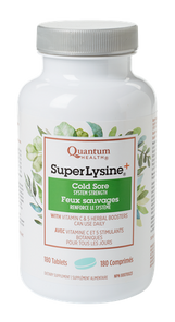 Quantum Super Lysine Cold Sore Plus+ 180 Tablets   046985001113