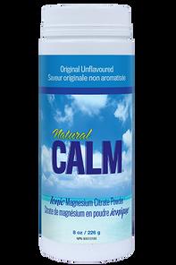 Natural Calm Magnesium Citrate Powder Plain 8 oz | 871469000029