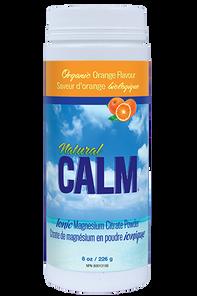 Natural Calm Ionic Magnesium Citrate Powder Organic Orange Flavour 8 oz | 871469000326