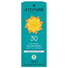 Attitude Little Ones 100% Mineral Sunscreen Fragrance Free SPF 30 75 g | 626232160000