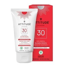 Attitude SPF 30 100% Mineral Sunscreen Adult Fragrance Free 150g | 626232160208
