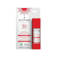 Attitude SPF 30 100% Mineral Sunscreen Adult Face Stick Fragrance Free 18.4 g |  626232160284
