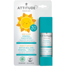 Attitude Baby & Kids Mineral Sunscreen Face Stick Unscented SPF 30 18.4 g |  626232160086