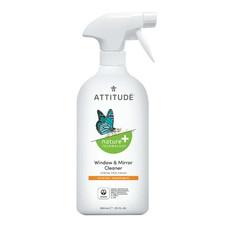 Attitude Nature+ Window & Mirror Cleaner Citrus Zest 800mL (Spray Bottle)   626232102802