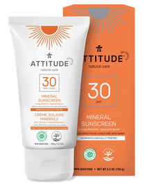 Attitude Adult Natural Care Mineral Sunscreen SPF 30 Orange Blossom 150 g | 626232160222