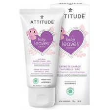 Attitude Baby Leaves Natural Diaper Cream with Zinc 75 g   626232167115