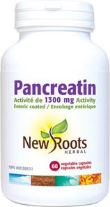 New Roots Herbal Pancreatin 1300mg Activity 60 Veg Capsules | 628747116978