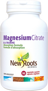 New Roots Herbal Magnesium Citrate & L-Taurine 90 Capsules | 628747109031