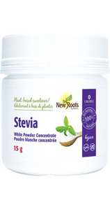 New Roots Herbal Stevia White Powder Concentrate 15g   628747001649