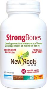 New Roots Herbal Strong Bones Boron-Free Formula 90 Veg Caps | 628747117210