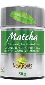 New Roots Herbal Matcha Organic Japanese Green Tea Powder 30g | 628747018746