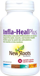 New Roots Herbal Infla-Heal Plus 30 Veg Capsules | 628747118323