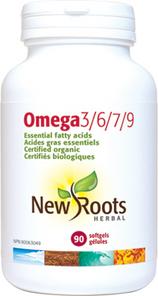 New Roots Herbal Omega 3/6/7/9 90 Softgels | 628747120029