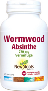 New Roots Herbal Wormwood 270mg 100 Veg Capsules | 628747102490