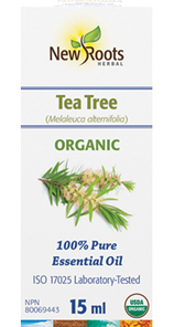 New Roots Herbal Tea Tree Essential Oil - Organic 100% Pure 15mL | 628747221177