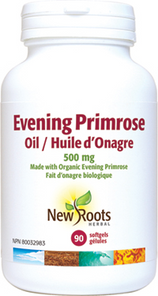 New Roots Herbal Evening Primrose Oil 500mg 90 Softgels | 628747104142