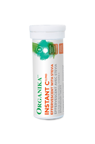 Organika Instant C Effervescent with Stevia 1000mg Orange Flavour 1 Tube x 10 Tablets
