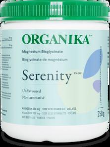 Organika Serenity - Magnesium Bisglycinate 150mg Unflavoured 250g   620365026837