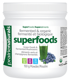Prairie Naturals Superfoods Fermented & Organic Superfoods Green Foods & Fermented Mushrooms 150g | 067953000808
