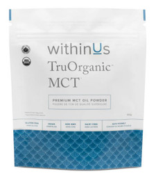 withinUs TruOrganic MCT Oil Powder Compostable Pouch 150g   628504021446